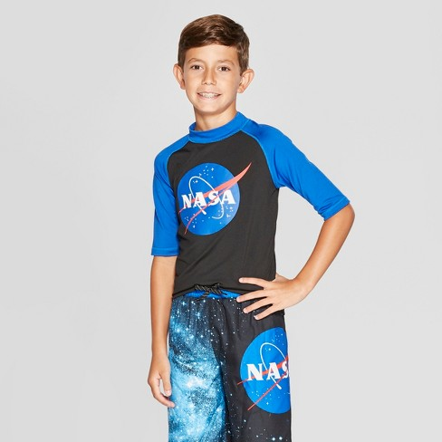 Boys' NASA Rash Guard - Black - image 1 of 3