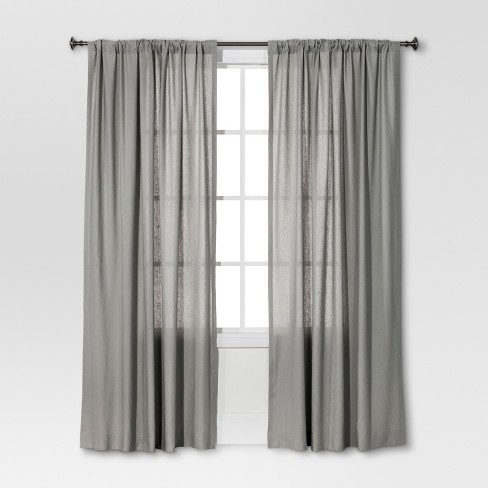 Linen Look Curtain Panel Brown  - Threshold™ - image 1 of 1