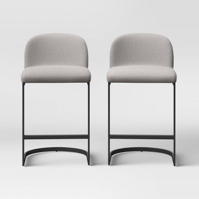 2pk Jules Cantilever Armless Upholstered Counter Height Barstool - Project 62™