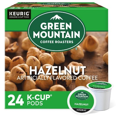 24ct Green Mountain Coffee Hazelnut Keurig K-Cup Coffee Pods Flavored Coffee Light Roast