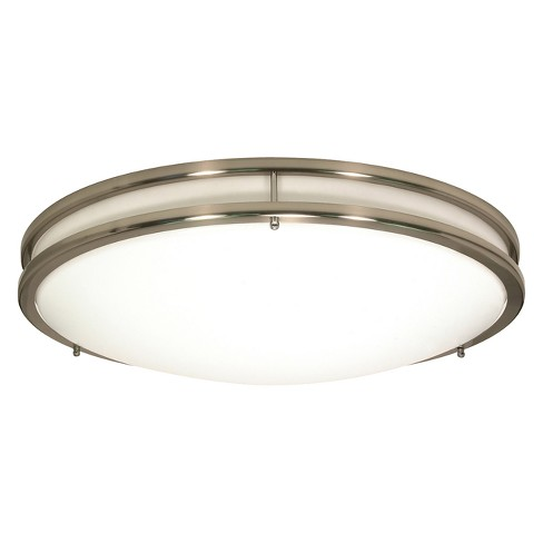 Aurora Lighting 3 Light Brushed Flush Mount Ceiling Lights Nickel - image 1 of 1