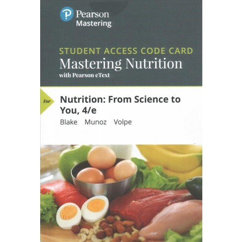 Nutrition Mastering Nutrition With With Pearson Etext Access Code
