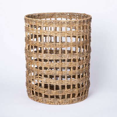Manmade Outdoor Wicker Basket Beige - Threshold™ designed with Studio McGee