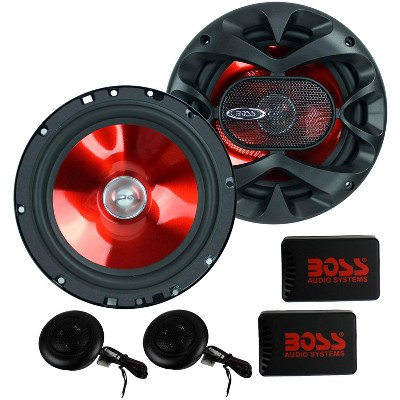 """2) BOSS CH6CK 6.5"""" 350W Car 2 Way Component Car Audio Speakers System Red Stereo"""