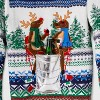 Men's Ugly Christmas Reindeer Snow Party Pocket Sweater - Red - image 2 of 2