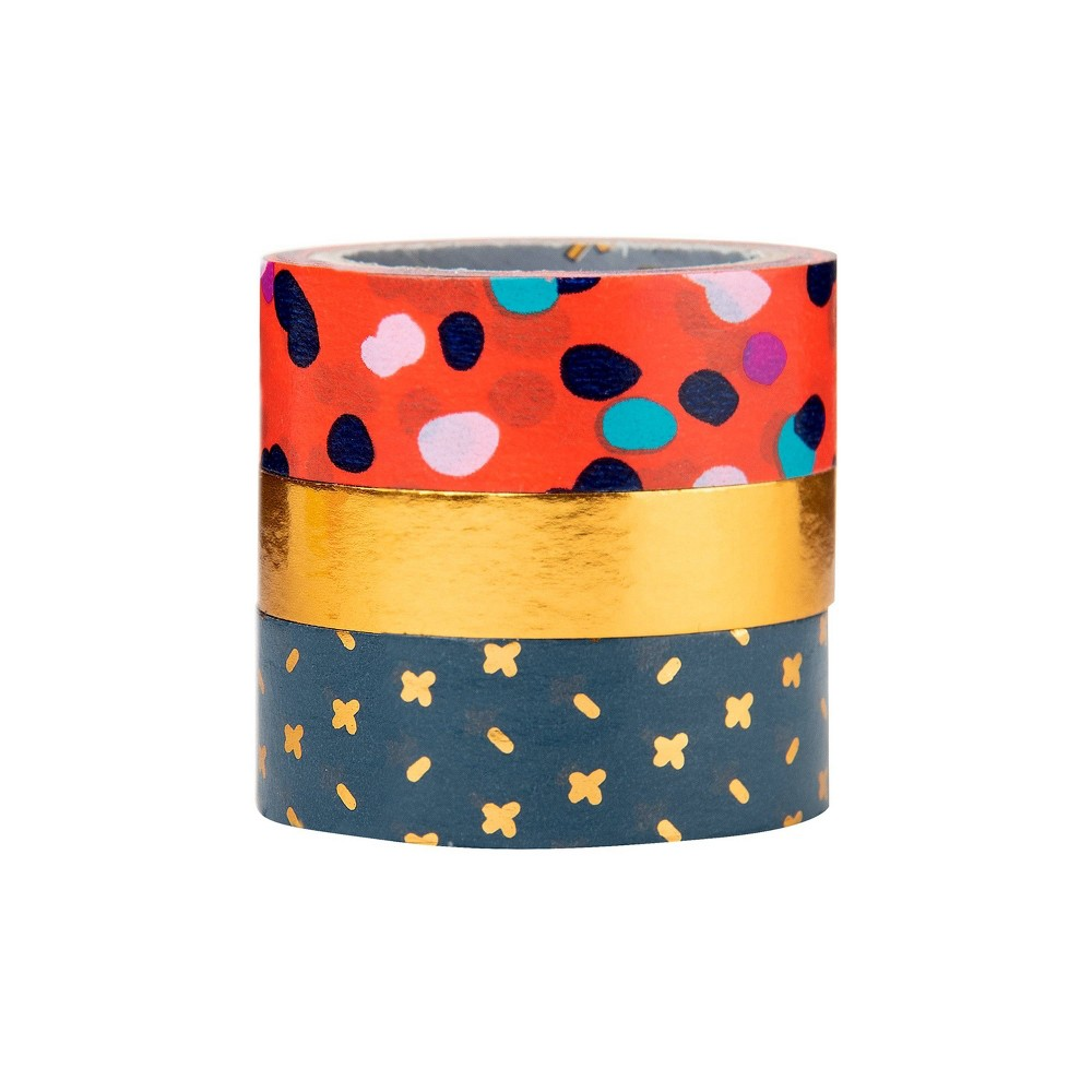 Image of 3pk Scotch Expressions Washi Tape - Ink Dots