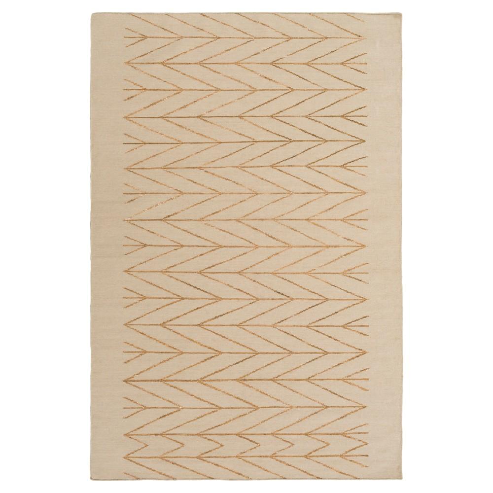 Tan Solid Woven Area Rug - (8'X10') - Surya