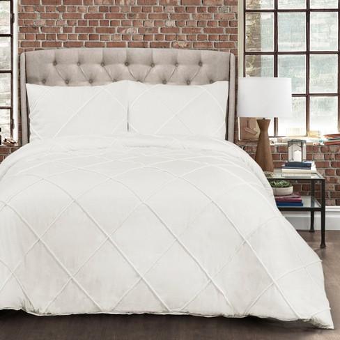 White Diamond Pom Comforter Set Lush Decor