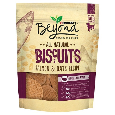 Purina Beyond All Natural Biscuits Salmon & Oats Recipe Dog Snack - 25 Oz Pouch - image 1 of 3