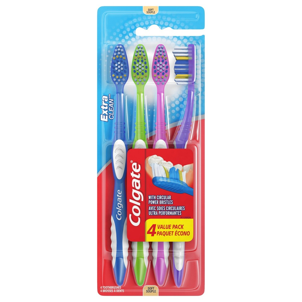 Colgate Extra Clean Full Head Toothbrush Soft - 4ct