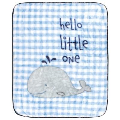 Hudson Baby Unisex Baby High Pile Plush Blanket - Hello Little One One Size