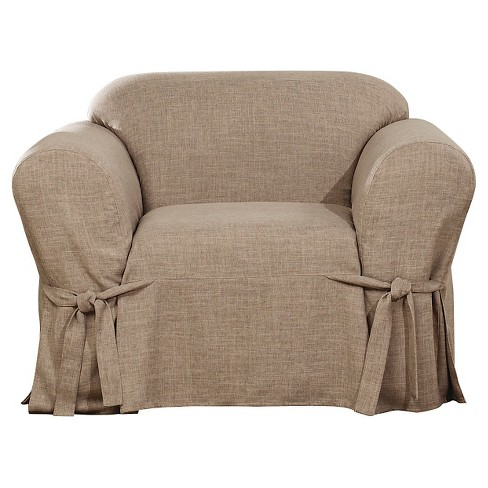 Textured Linen Chair Slipcover - Sure Fit - image 1 of 3