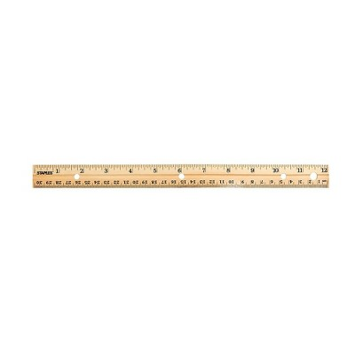 "Staples 12"" Wooden Ruler Imperial/Metric (51891) 2773009"
