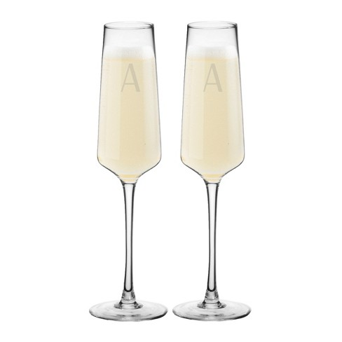 9.5oz 2pk Monogram Estate Champagne Glasses - Cathy's Concepts - image 1 of 4