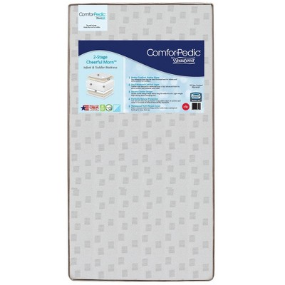 Simmons Kids Comforpedic from Beautyrest Dual Sided Crib/Toddler Mattress- Gray