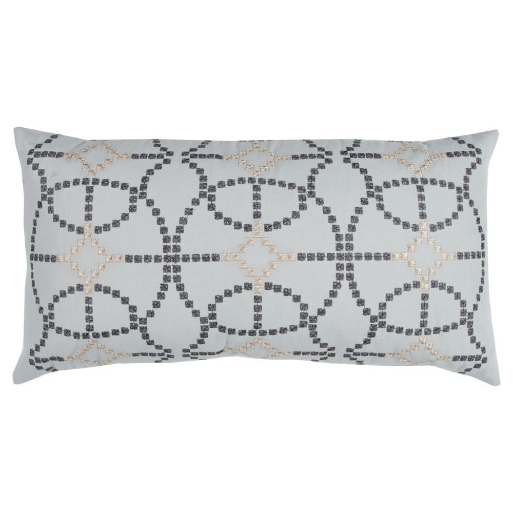 Silver Cotton Throw Pillow 14 X26 Rizzy Home