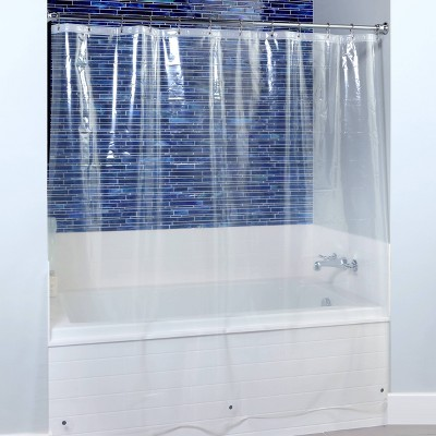 2pk Midweight Shower Curtain Liners with Microban - Slipx Solutions