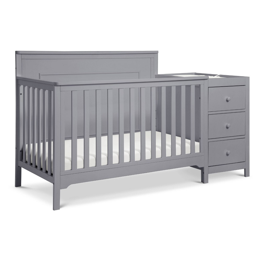 Image of Carter's By Davinci Dakota 4-In-1 Crib And Changer Combo - Gray