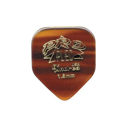 D'Andrea Pro Plec Small Pointed Square Guitar Picks - One Dozen Shell 1.5 mm - image 1 of 2