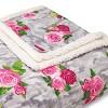 Floral Print Plush Bed Blanket - Betseyville - image 2 of 2
