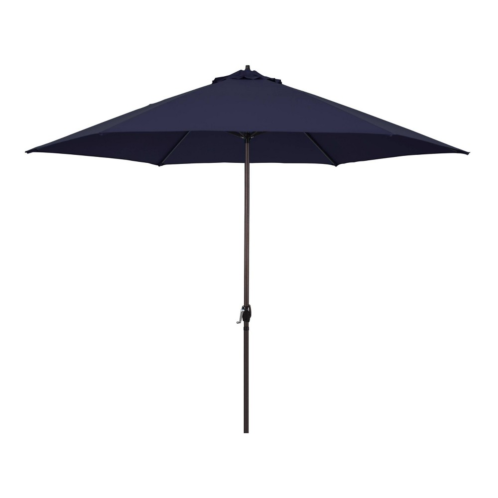 Image of 11' Patio Umbrella - Aluminum Pole with Crank Lift Navy Blue - Astella, Blue Blue