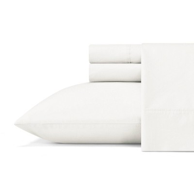Queen Organic Cotton Solid Sheet Set White - ED Ellen DeGeneres