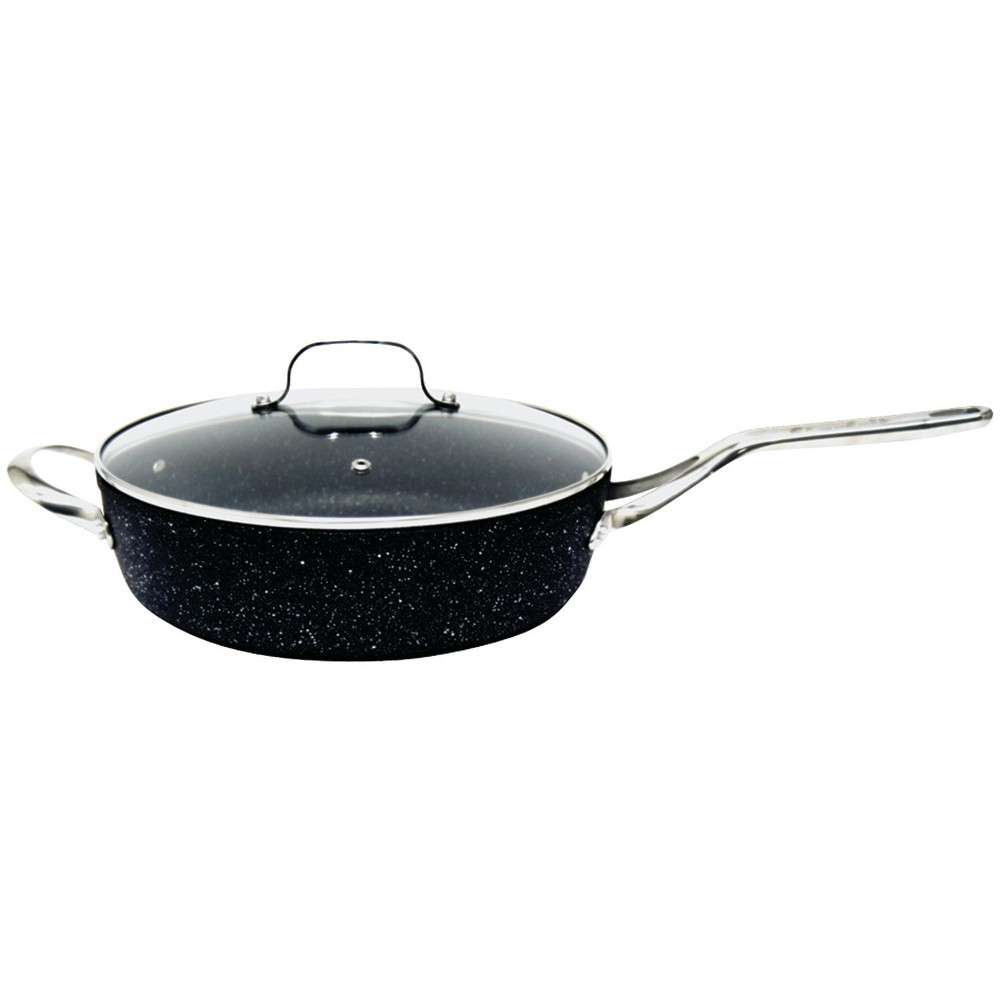 "Image of ""The Rock Deep Fry Pan with Glass Lid - 11"""""""