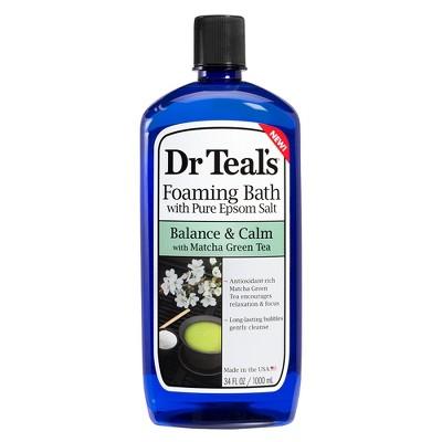 Dr Teal's Pure Epsom Salt Balance & Calm Match Green Tea Foaming Bath - 34 fl oz