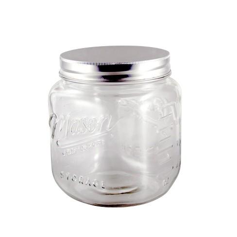 Grant Howard 50873 Jumbo 92 Ounce Wide Mouth Mason Embossed Glass Storage Jar - image 1 of 1