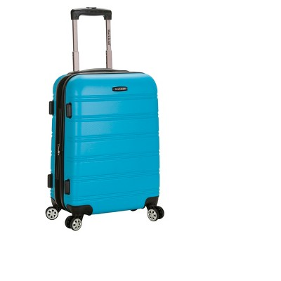 """Rockland Melbourne 20"""" Expandable ABS Carry On Suitcase - Turquoise"""