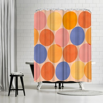"""Americanflat Summer Dots by Modern Tropical 71"""" x 74"""" Shower Curtain"""