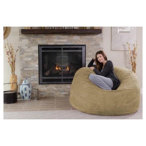 relax sack 5 ft large memory foam bean bag target