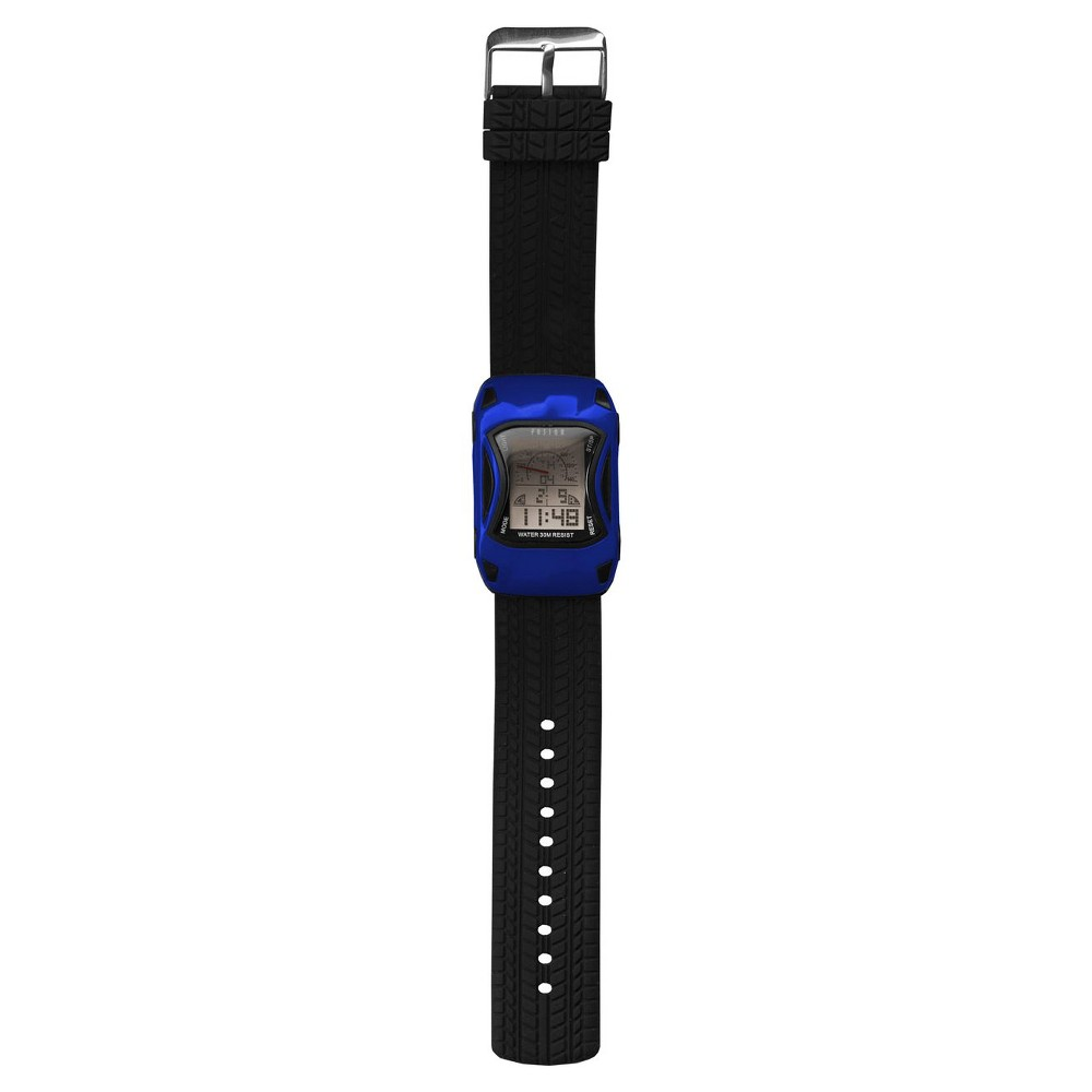 Image of Boys' Fusion Race Car Digital Watch - Blue, Boy's, Blue Black