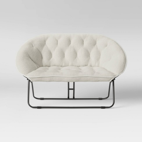 Sherpa Double Dish Chair Cream Room Essentials