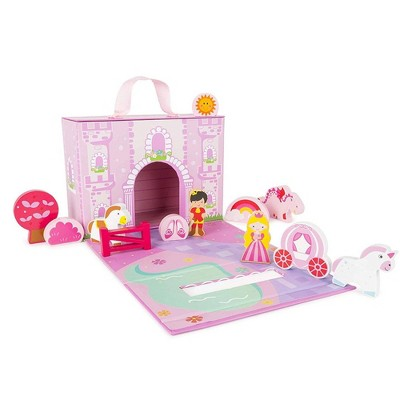 Small Foot Wooden Toys Princess Castle Playworld In Carrying Case