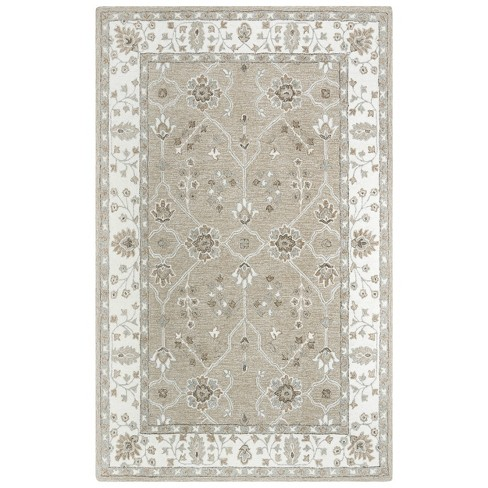 Conley Floral Wool Area Rug - Rizzy Home - image 1 of 4