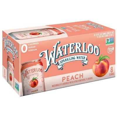 Waterloo Peach Sparkling Water - 8pk/12 fl oz Cans