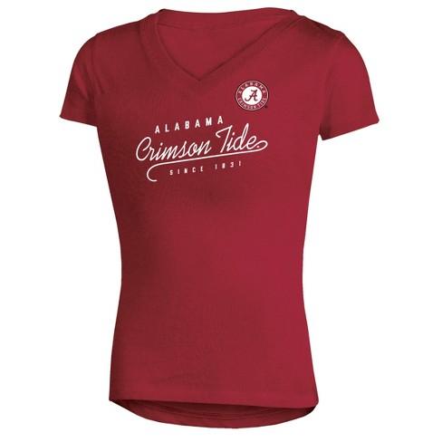 NCAA Alabama Crimson Tide Girls' Short Sleeve V-Neck Tunic T-Shirt - image 1 of 1