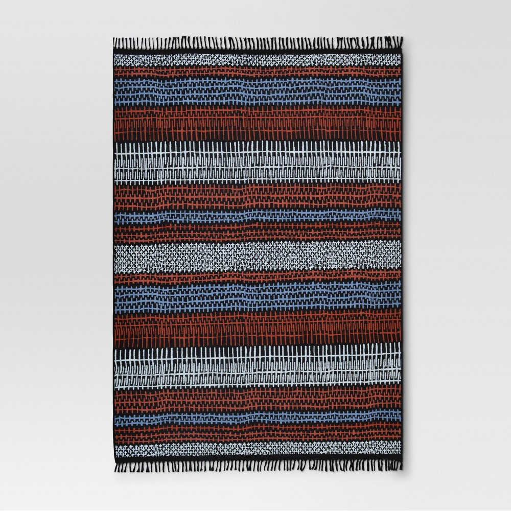 Drawn Stripe Warm Outdoor Rug - 7'x10' - Project 62