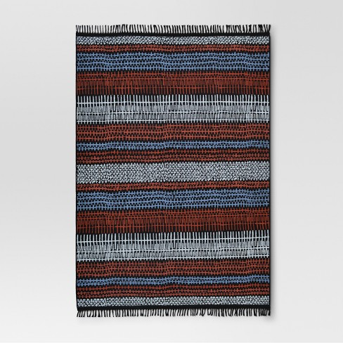 Drawn Stripe Warm Outdoor Rug - 7'x10' - Project 62™ - image 1 of 2
