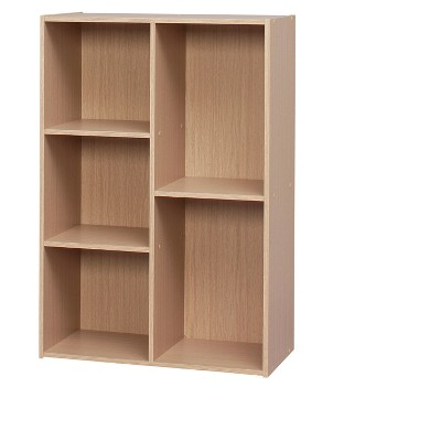 IRIS Staggered Wooden Shelf Natural