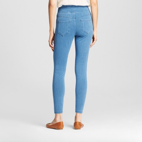 8006186351ce4 Women's High Waist 5-Pocket Jeggings - A New Day™ Light Washed Blue : Target