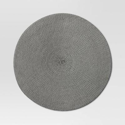 Polyround Charger Placemat Dark Gray - Threshold™