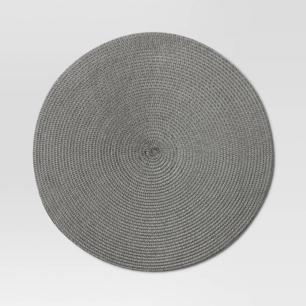 Polyround Charger Placemat Dark Gray Threshold 8482