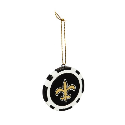 Evergreen Game Chip Ornament, New Orleans Saints
