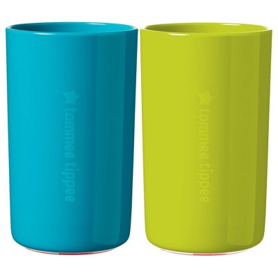 Tommee Tippee 2pk No Knock Cup - Teal/Green L