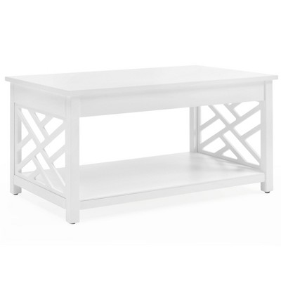 """36"""" Middlebury Wood Coffee Table White - Alaterre Furniture"""