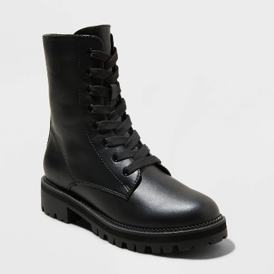 Women's Saylor Lace-Up Combat Boots - A New Day™
