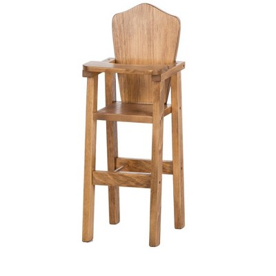 Remley Rebekah's Collection Kids Wooden Doll Furniture High Chair - Ships Assembled
