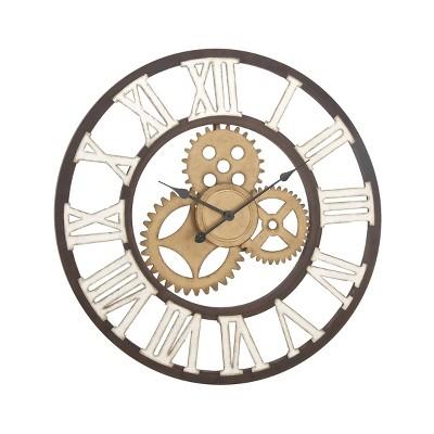 "30"" industrial Gear Iron Wall Clock - Olivia & May"